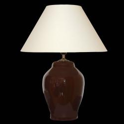 Keramická lampa C 606, tm.hnědá